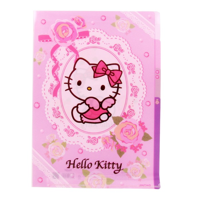 Hello Kitty 3 Section File Folder - Rose