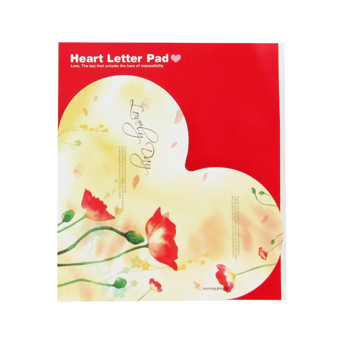 Heart Letter Pad - Lovely Day Flower