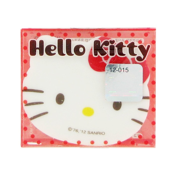 Hello Kitty Cute Face Eraser - Red
