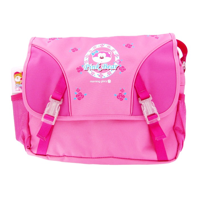 morning glory Pink Bear® Character Cross Bag