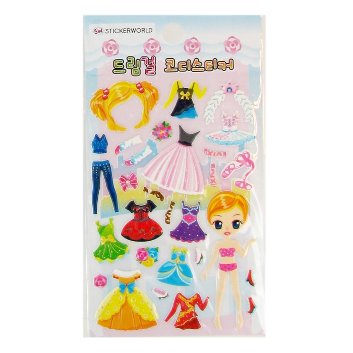 Dream Girl Dress Coordinator Embossed Sticker - Ballet & Figure Skater