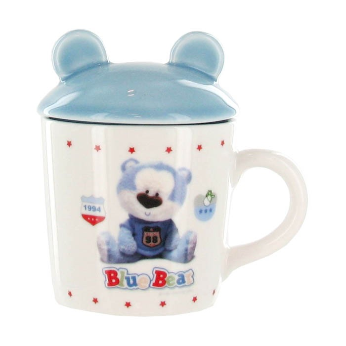 Blue Bear Ceramic Mug Cup