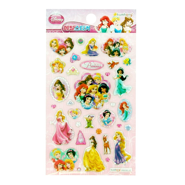 Disney Princess Metal Sticker - Soft Pink