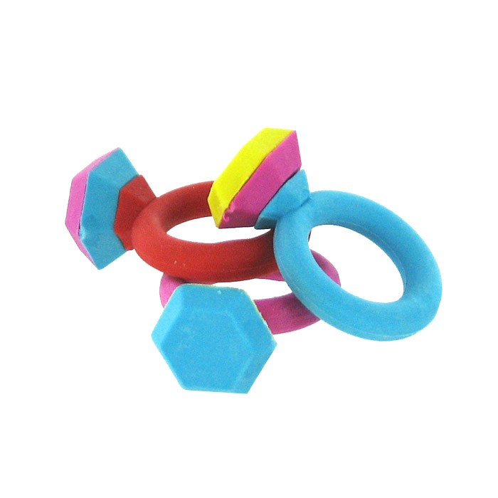 Diamond Ring Eraser - Set of 3