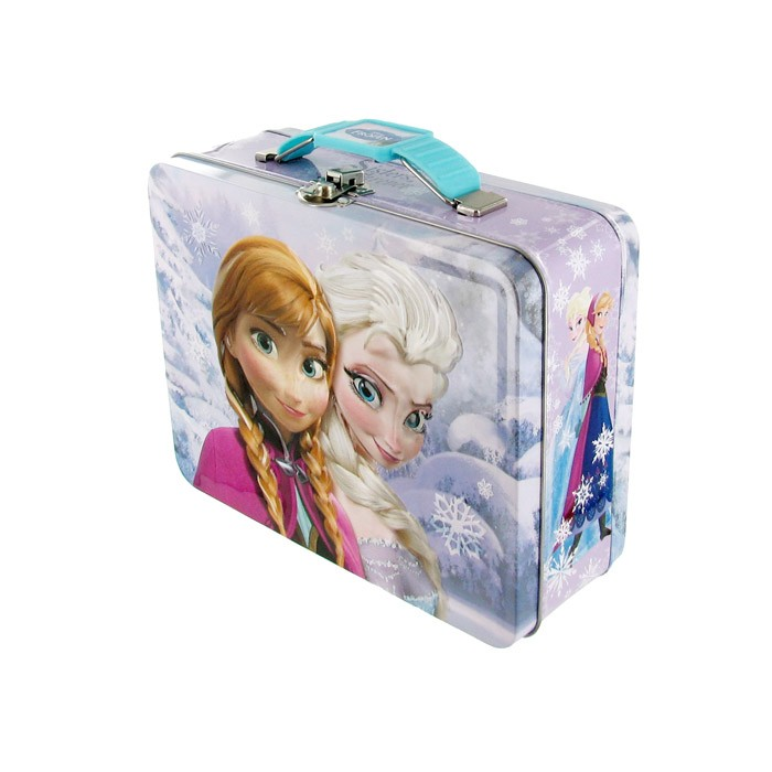 Frozen Tin Embossed Lunch Box - Purple