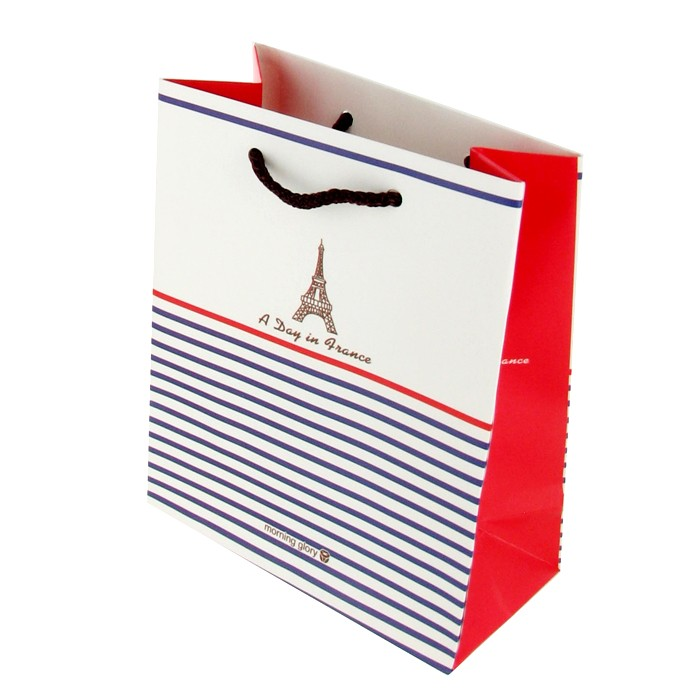 Mini Cute Gift Shopping Bag - Stripe Paris (Small)