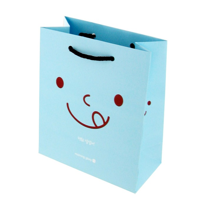 Mini Cute Gift Shopping Bag - Smile Blue (Small)