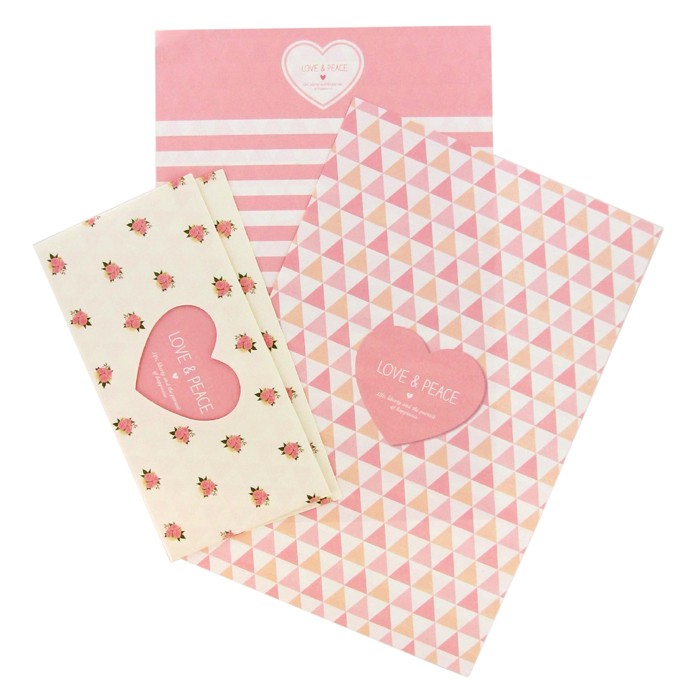 Love & Peace Letter Set - Heart