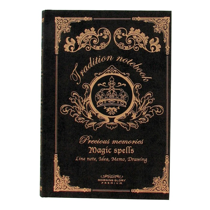 Magic Spells Notebook - Black ( Large )