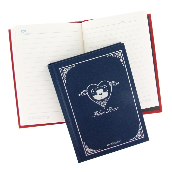 Morning Glory Blue Bear® Diary - Blue Cover