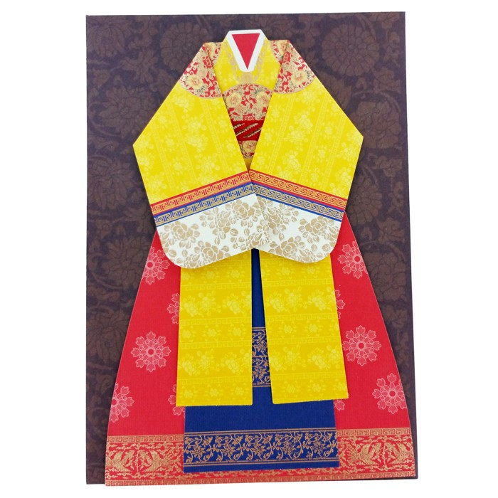 Traditional Korean Empress Costume Card Set