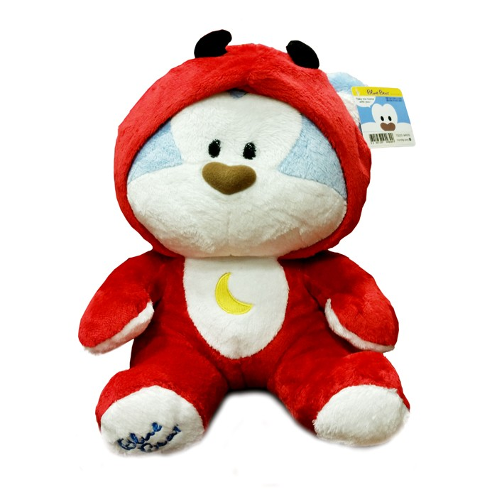 Cute Red Devil Blue Bear Plush ( 2012/M ) - 12""