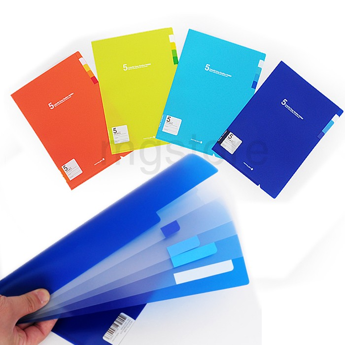Colorful 5 Section File Folder
