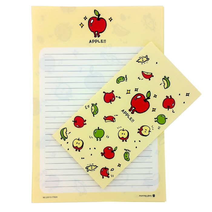 Morning Glory Fruit Letter Set - Yellow Apple