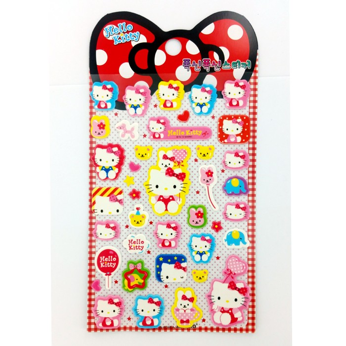 Hello Kitty Polka Dot Bow and Balloon Stickers