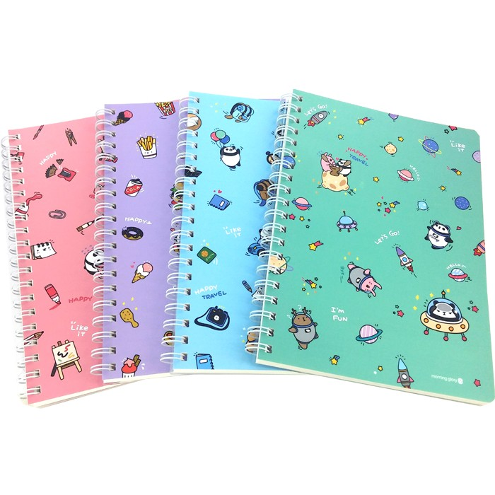 Moongs Panda Ring-Bound Notebook