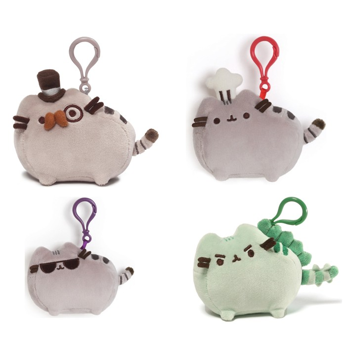 Pusheen Cat Backpack Clip-ons