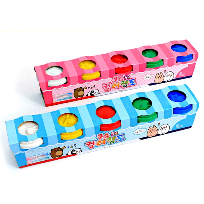 Moongs 5-color Molding Clay