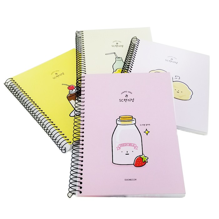 Ssueim & Cclim Large Drawing Spiral Notebook