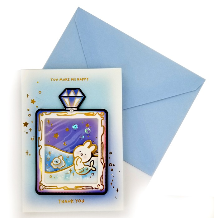 Moongs Friends 3D Greeting Cards - Mermoongs Diamond