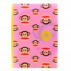 Paul Frank Double Pocket File Folder - Pink