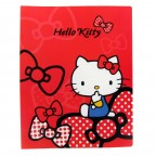 Hello Kitty PP Clear File Folder - Red Ribbon