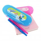 Blue/Pink Bear Round Multipurpose Case