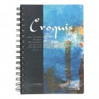 Croquis Hard Cover Compact SP Notebook - Blue/Black