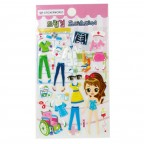 Dream Girl Dress Coordinator Embossed Sticker - Hospital