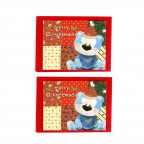 Blue Bear Greeting Card - 2 Packs / Blue Bear in a Quilt