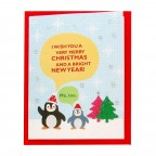 Christmas Seasonal Card - Penguins