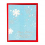Christmas Seasonal Card - Sky Blue Snow