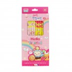 Character Pencil Set - Pink/HB/Pack of 8