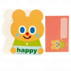 Orange Puppy Letter Set - Happy