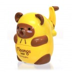 Moongs Hooded Pencil Sharpener - Yellow Brown Bear