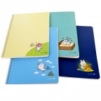 Moongs Friends Rabbit / Cat Margin & Header Notebook