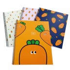 Carrot Spiral Notebook