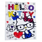 Hello Kitty Hard 3-Ring Binder - White