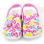 Hello Kitty White Crocs
