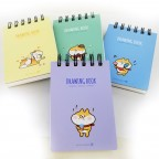Moongs Corgi Drawing Compact Notepad (Vertical)