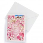 """Paper Cut Design Greeting Card - Red """"Thank you"""""""