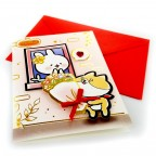 Moongs Friends 3D Greeting Cards - Moongs Bouquet