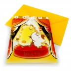 """Moongs Friends 3D Greeting Cards - """" Thank you """" (stage)"""